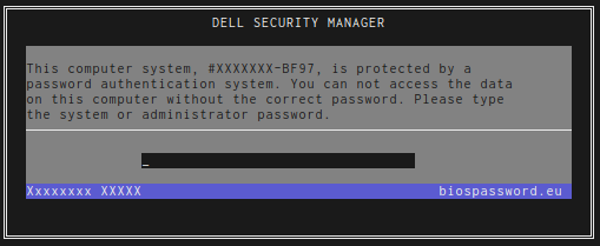 dell password screen ending BF97